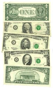 US Currency - Source Wiki Commons