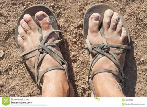 feet in sandals to pay for private school